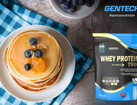 Panqueques rellenos Whey Protein Gentech