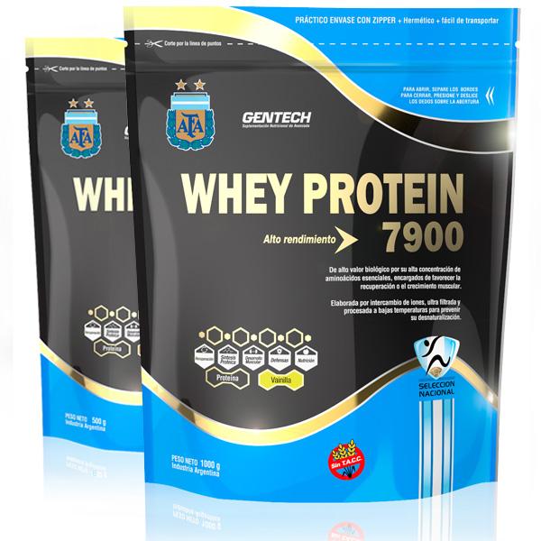 Whey Protein Gentech 1000gr vainilla