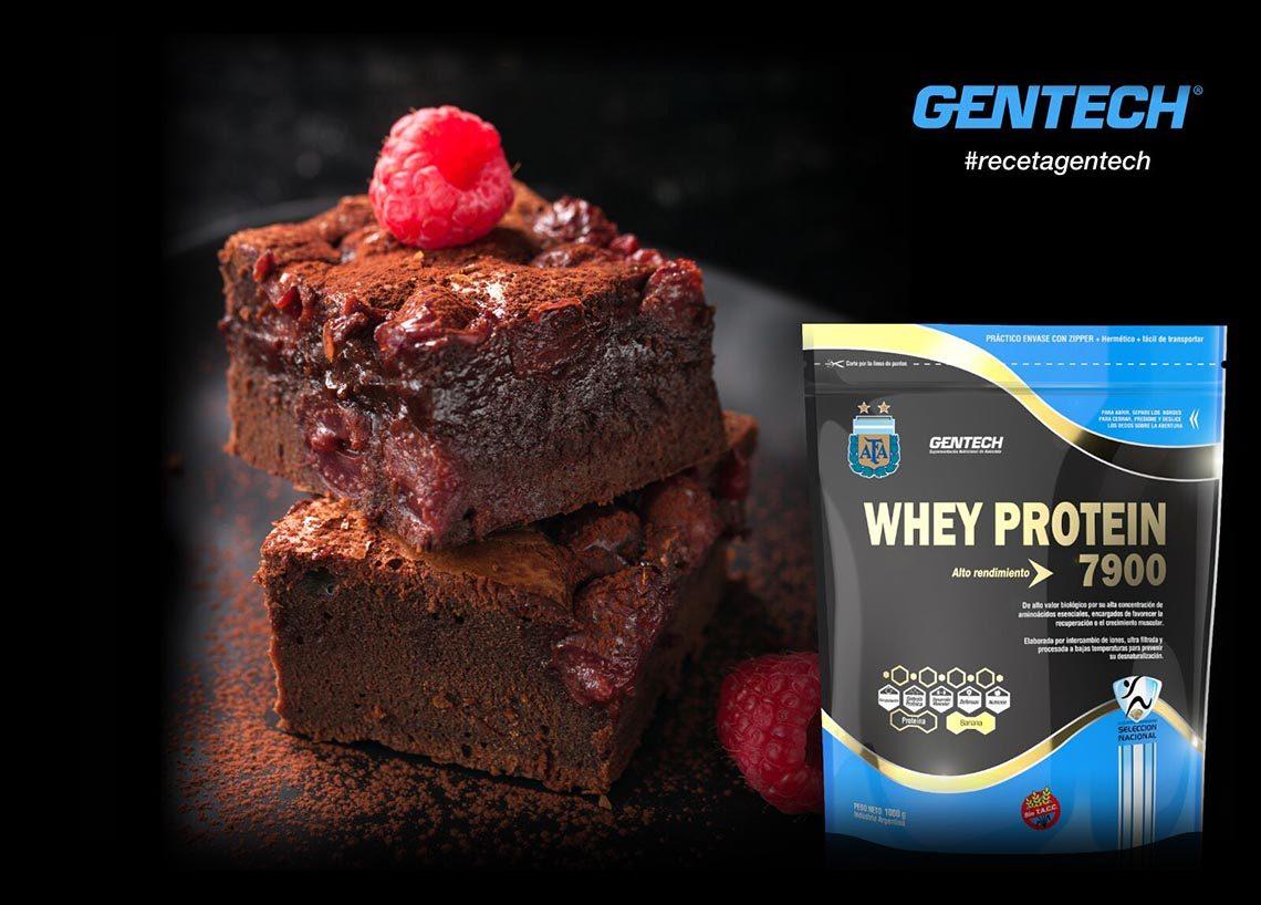 Brownie de Chocolate con Whey Protein Recetas Gentech