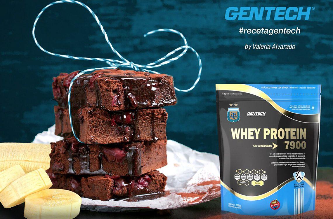 RecetaGentech- Brownie de chocolate con Whey Protein de banana
