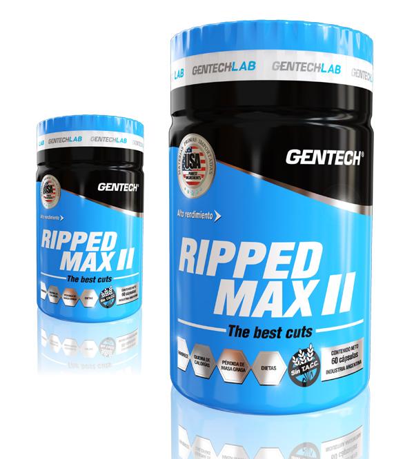 RIPPED MAX 2 Gentech Proteinas Aminoacidos Quemador