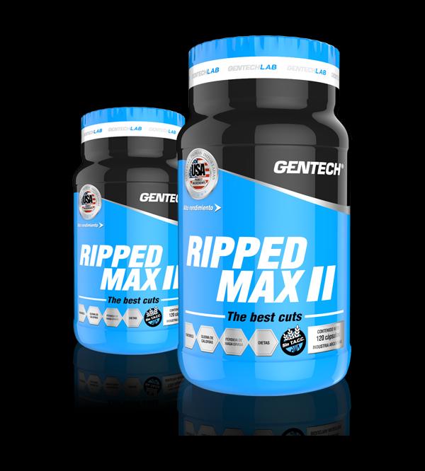 RIPPED MAX 2 Gentech Suplementacion Deportiva Proteinas Aminoacidos Quemadores