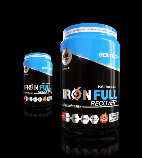 IRON FULL Gentech Recuperador crecimiento muscular