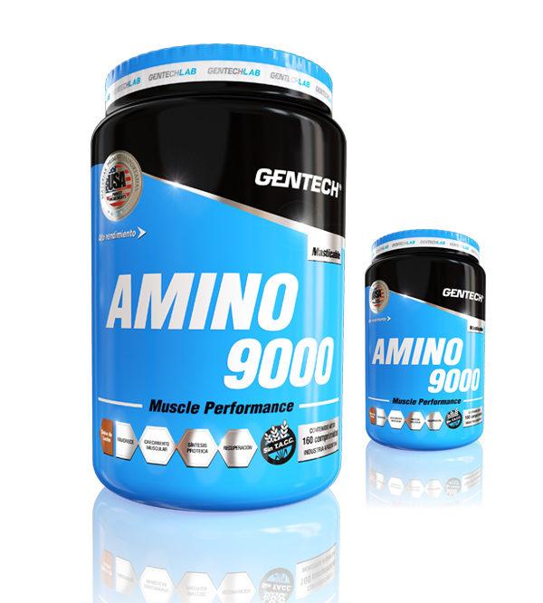 Amino 9000 Gentech Suplementacion Deportiva Proteinas Aminoacidos Quemadores
