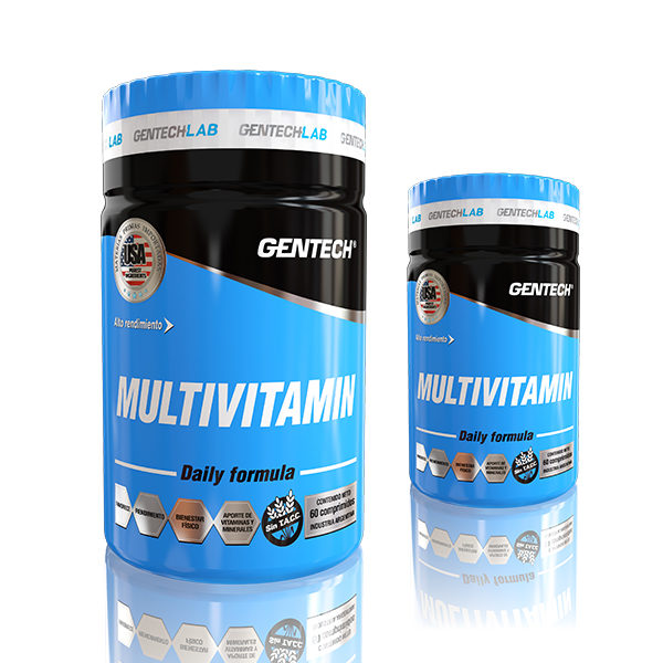 Multivitamin Gentech Vitaminas y minerales hierro calcio