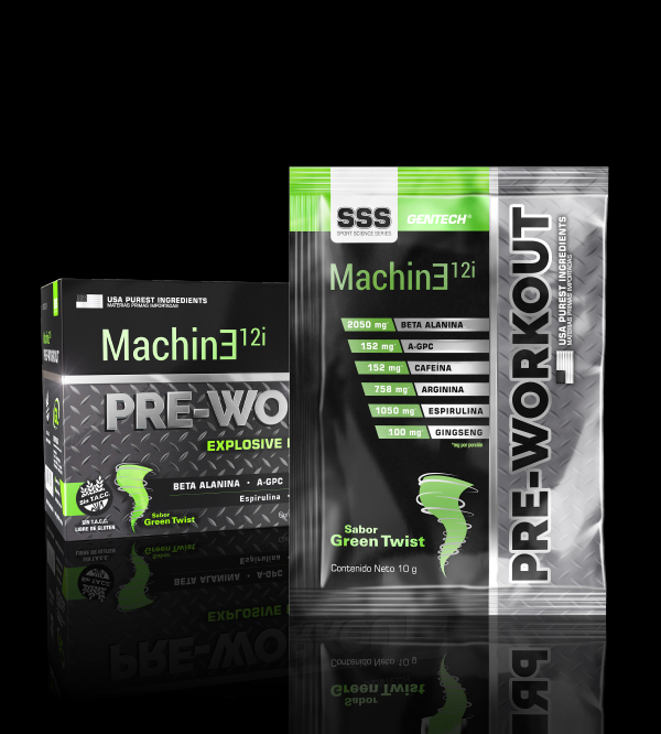 Pre-workout Machine Gentech quemador aminoacido