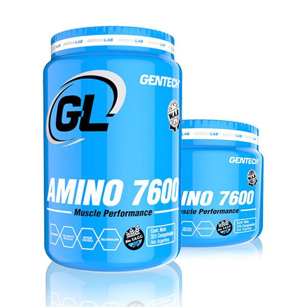 AMINO 7600 Gentech Suplementacion Deportiva Proteinas Aminoacidos Quemadores AMINO 7600