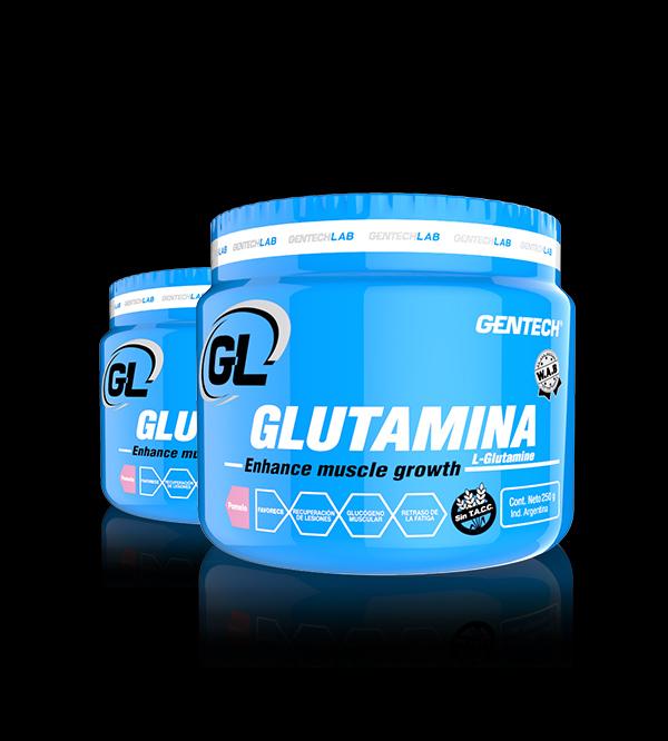 Glutamina Gentech Proteinas Aminoacidos Quemadores