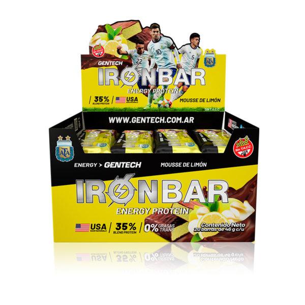 Iron Bar Barra Proteinas Gentech Sabor Mousse de Limón