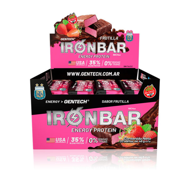 Iron Bar Barra Proteinas Gentech Sabor Frutilla