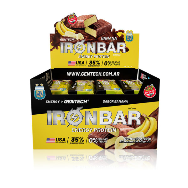 Iron Bar Barra Proteinas Gentech Sabor Banana