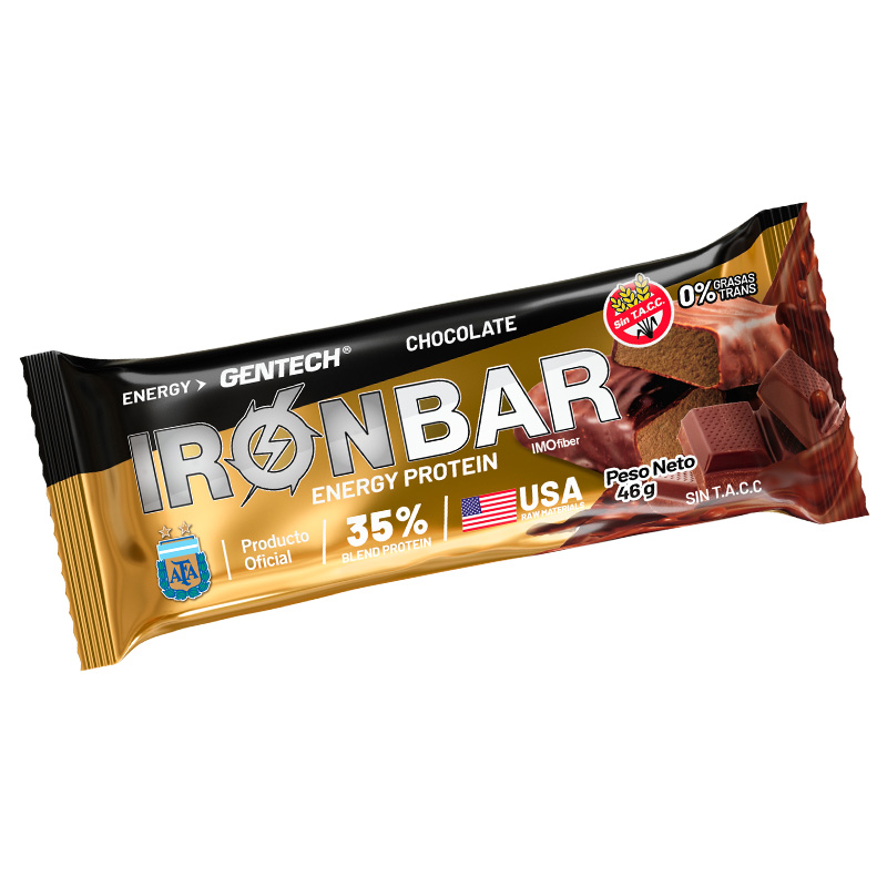 Iron Bar Barra Proteinas Gentech Chocolate