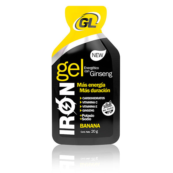 IRON GEL GINSENG BANANA Gel energético a base de carbohidratos
