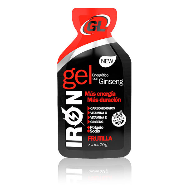 IRON GEL GINSENG FRUTILLA Gel energético a base de carbohidratos