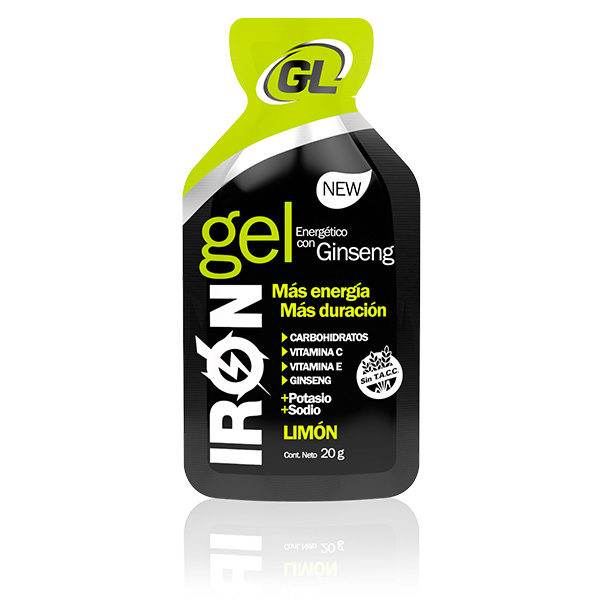 IRON GEL GINSENG LIMÓN Gel energético a base de carbohidratos