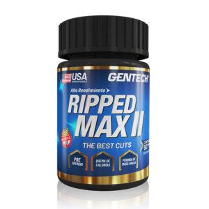 RIPPED MAX II Es un gran quemador de masa grasa, sin perder masa muscular.