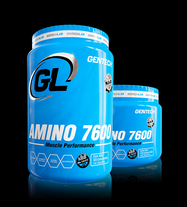 Amino 7600 Gentech Aminoácidos Suplementos Deportivos