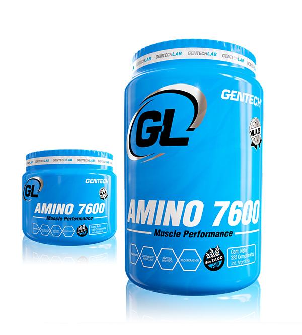 Amino 7600 Gentech Aminoácidos Esenciales Suplementos Deportivos