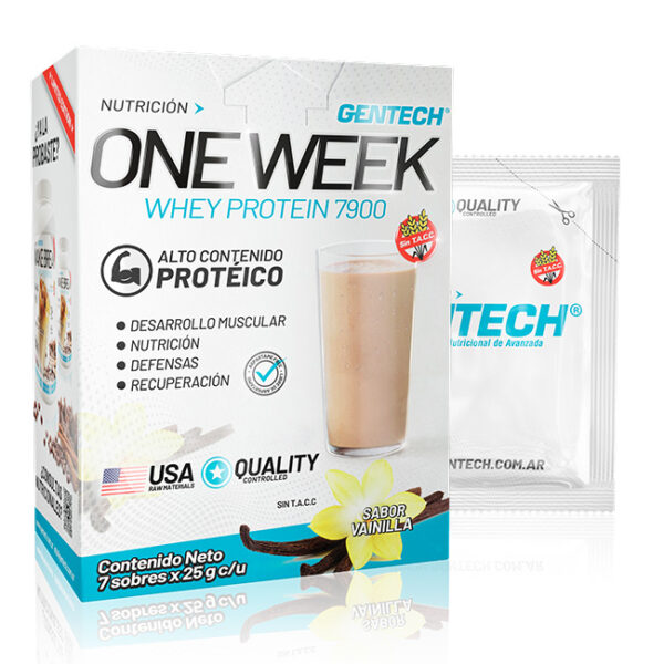 One Week Suplemento dietario a base de whey Protein 7900 Gentech