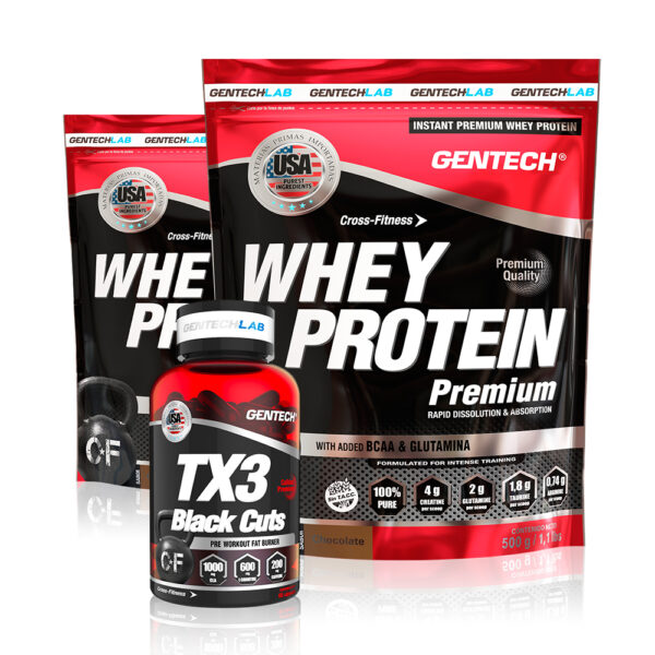 combo gentech whey protein y tx3